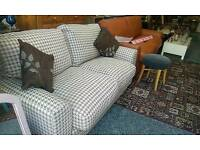 Channel pattern 2 seater sofa £180