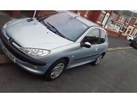 Peugeot 206 Blue Silver 800 ono 1.1 2003 Plate Great Car 3 Months M.O.T