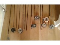 Fly fishing rods, reels, lines
