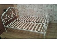 4 week old Beautiful white double bed frame