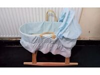 baby mosess basket with wooden stand
