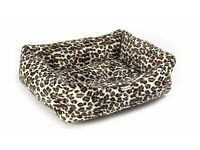 Chilli Dog Cheetah Sofa Dog Bed | Brand New