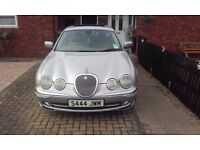 S type Jaguar. Owned for 10 years, LPG gas coversion £1,250. Crews control, built in sat nav system.
