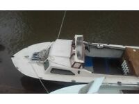 diesel fishing boat and trailer for sale or swap