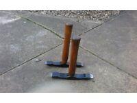 scutching hammers x 2
