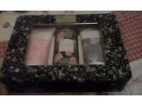 Reduced! Baylis and Harding Royal Bouquet tinned body and shower gift set of three items.