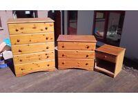 3 piece pine furniture bedroom set
