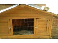 Guinea pig/rabbit hutch& run &accessories