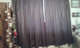 Brown lined curtains - two pairs