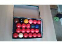 Set of snooker ball's