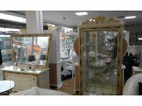 Italian Katia 3 Door Sideboard with mirror Cream/Gold
