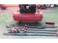 100 l 16 bar single faze air compressor