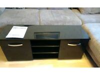 TV Black gloss unit with storage
