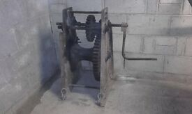 Antique beach windlass by Richard Gibbons of Birmingham. Sturdy piece of machinery in GWO.