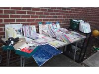 Job Lot of 725 greeting cards, wrapping, pricegun and labels.
