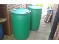 210 litre green plastic barrels for sale ideal for water butts