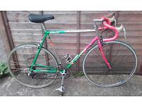 """RARE VINATGE LITE CARRERA Road Bike 23"""" Reynold Frame HighSpec 14speed 28""""wheels DELIVERY & WARRANTY"""