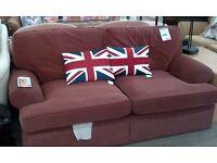 Sofa in terracotta fabric 3 seater