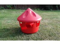 Poultry grit station feeder / hopper for chickens