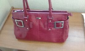 Large Red handbag matching wallet