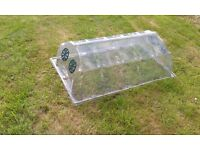 Large polycarbonate coldframe with optional ventilating holes