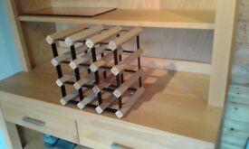 Wine rack wood and metal