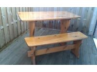 Breakfast Nook or Outside Garden table and benches