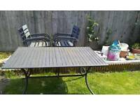 Garden Table & 6 chairs.