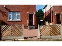 3 bed semi- detached house for sale with large gardens and backs onto a park