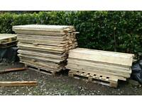 """Timber pine boards rough sawn 5ft long by 6 1/4"""" wide by 3/4 """" thick. X 200 +. Only £2.00 each"""