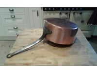 Huge Old French Copper Pan 27cm diameter