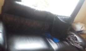 Black couch good condtion want away by monday free