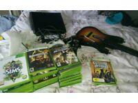 Xbox 360 bundle 32games 4 controller's guitar hero