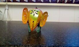 Metal painted elephant