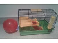 Hamster cage and excercise ball