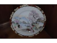 JAPANESSE HAND PAINTED PLATE CHERRY BLOSSOM