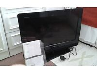 Sony Bravia TV LCD Digital 26 inch with stand, instruction booklet and remote - 2009 model.