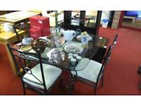 Glass Dining table & 4 chairs tcl 14817