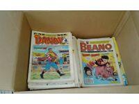 Big Box of Dandy & Beano Comics 1980s-1990s