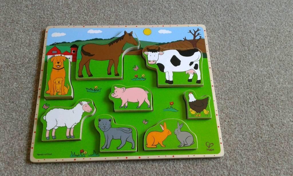 Kids farm wooden puzzle