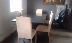 Black glass top dining table reduced ☆£50