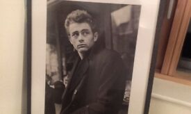 James Dean Framed B&W Photo Print 32(H) x 25(W)