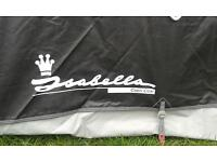 Isabella Capri Coal 1050 Awning with Carbon Fibre Pole set.