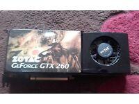 Zotac Gtx 260 896mb ddr3 graphic card
