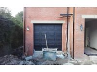 garage doors insulated 40mm sectional for airtightness and heatloss issues