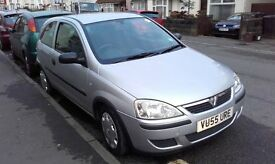Vauxhall Corsa Silver 55 plate, Low milage, MOT Oct 17, VGC.
