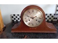 antique mantle wind up chiming clock