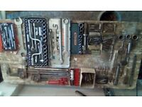 ASSORTED TOOLS AND TOOL BOX