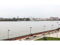 Private landlord. Available now: Large 1 bedroom apartment with river views in Orion Point, E14.