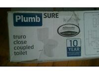 Truro close coupled toilet (complete, NEW) -- OFFERS